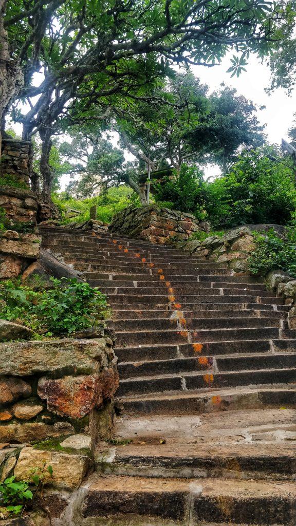 Stairways to Yoga Narasimha temple Melukote