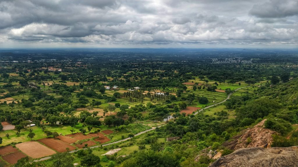 View from Yadugiri hill