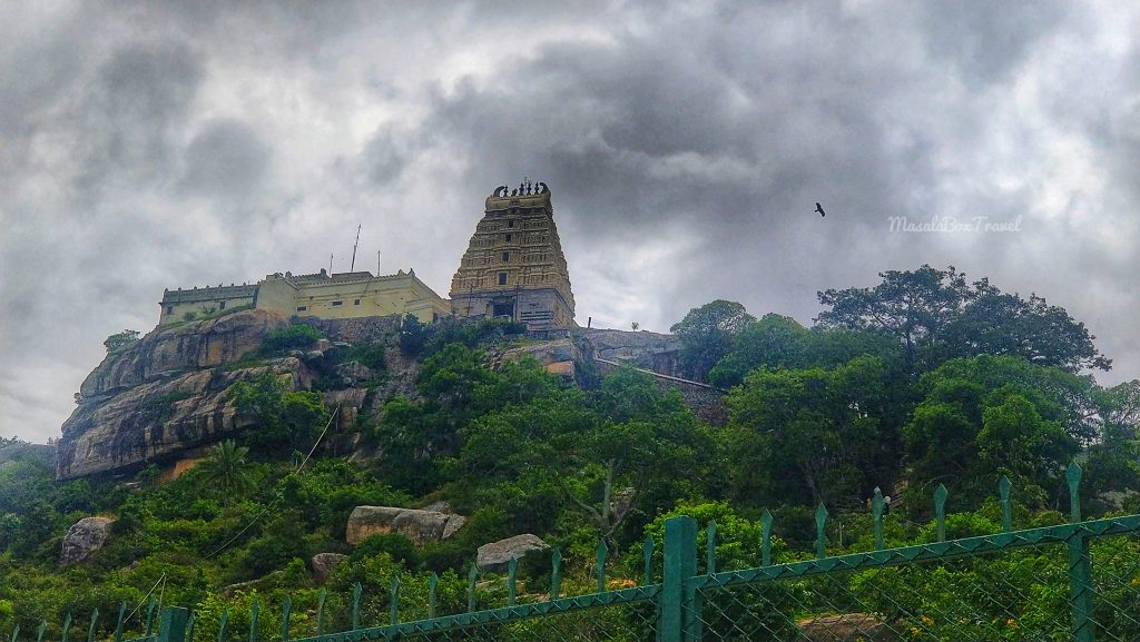 First view of Yoga Narasimha temple