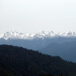 Bhutan travel Snow capped mountains