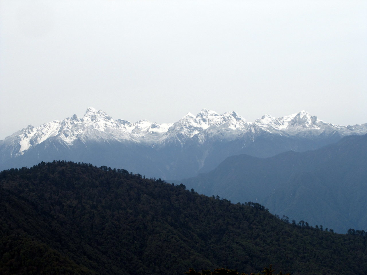 Bhutan travel Snow capped mountains