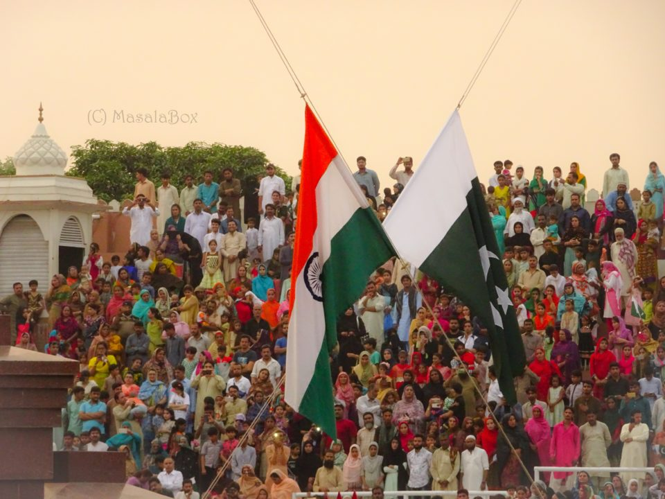 Flags lowered at wagah