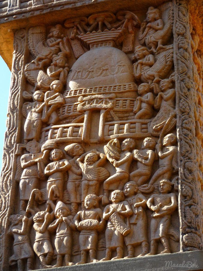 foreigners Sanchi Stupa