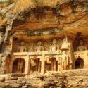 The huge Jain rock cut temples of Gwalior
